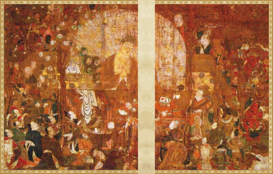 国宝 釈迦金棺出現図